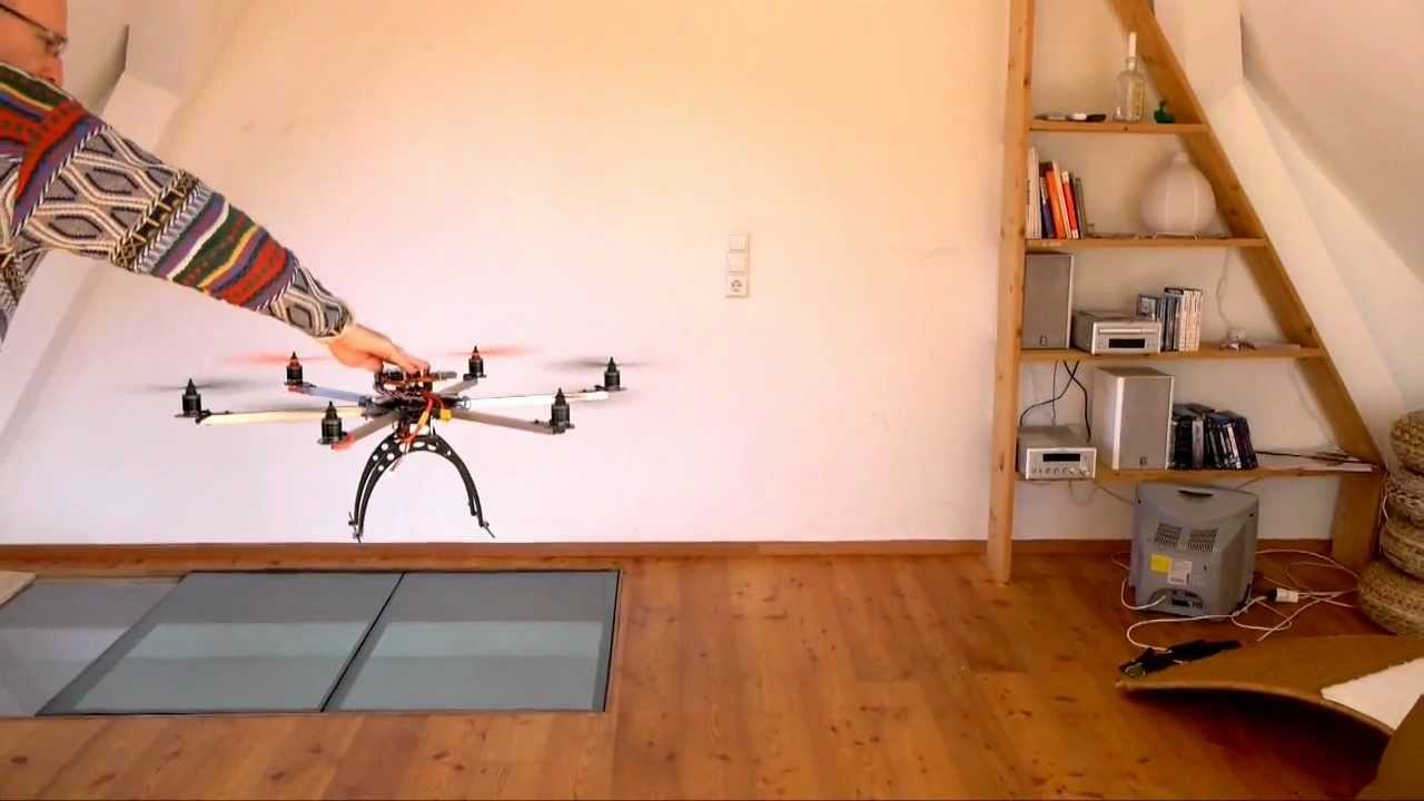DJI NAZA 70cm big frame, Rahmen Hexacopter Multicopter indoor - YouTube