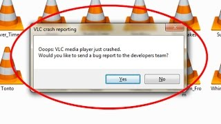 How to fix VLC crash reporting-Ooops VLC media player just crashed
