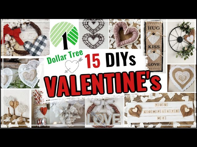 15 Dollar Tree DIY Valentines Home Decor Ideas | Easy Farmhouse DIY Decor | Momma From Scratch