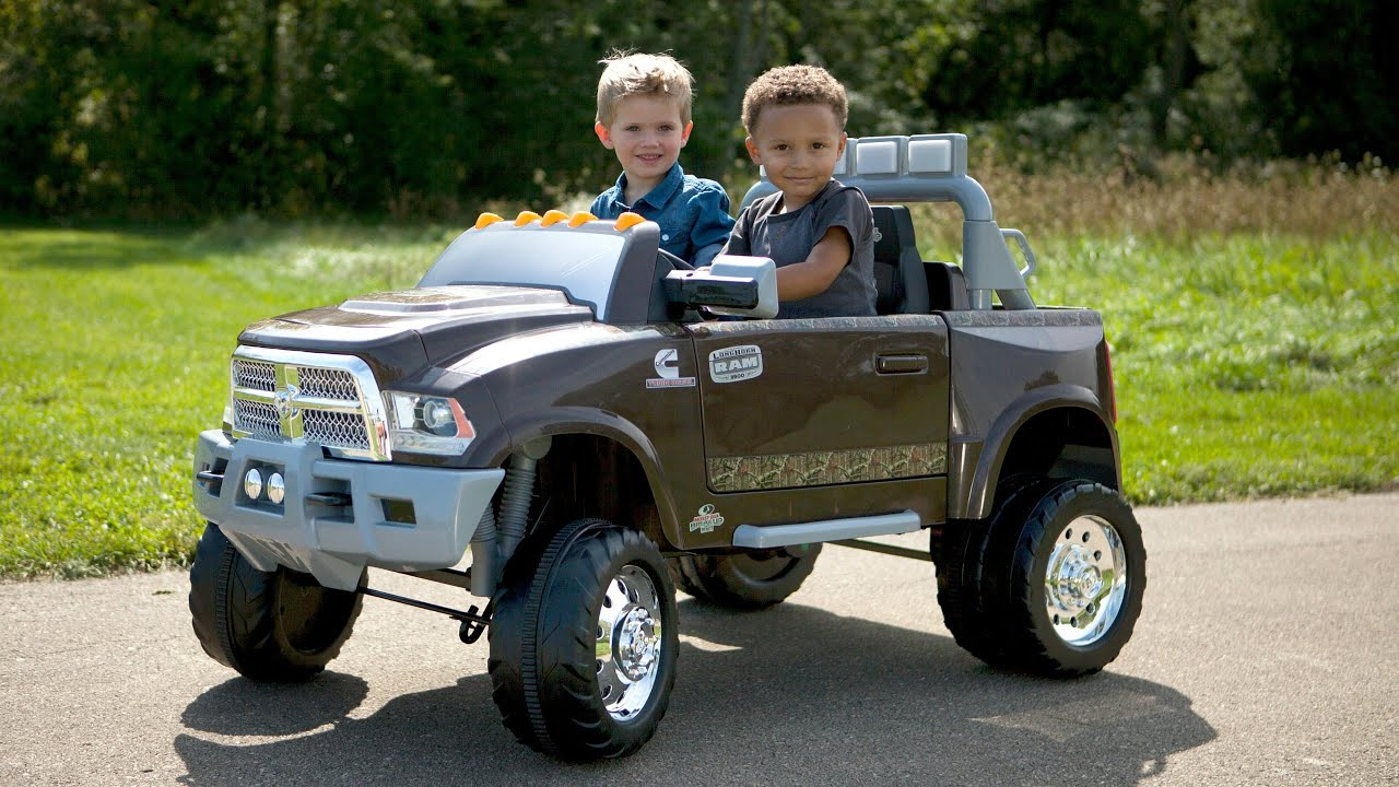 kid trax ram 3500 dually ride on toy car longhorn. Black Bedroom Furniture Sets. Home Design Ideas