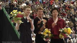 [HD] Men's Medal Ceremony - 2002 Worlds FS - Alexei Yagudin, Timothy Goebel, Takeshi Honda