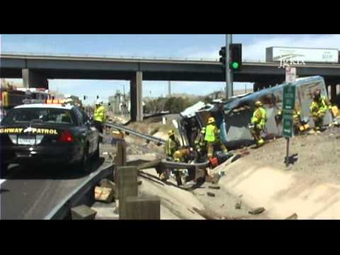 car accident on 15 freeway  Truck Crash after Exiting I-15 Freeway - YouTube