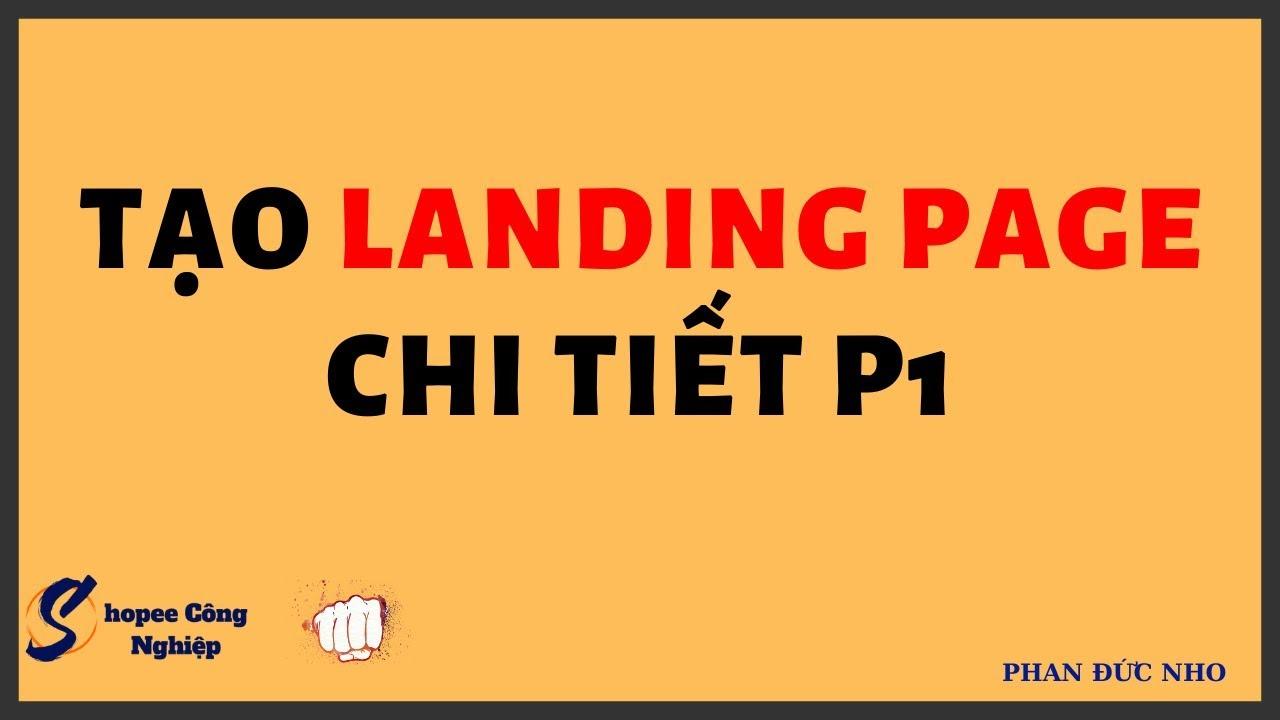 Cách tạo tài khoản làm landingpage đơn giản