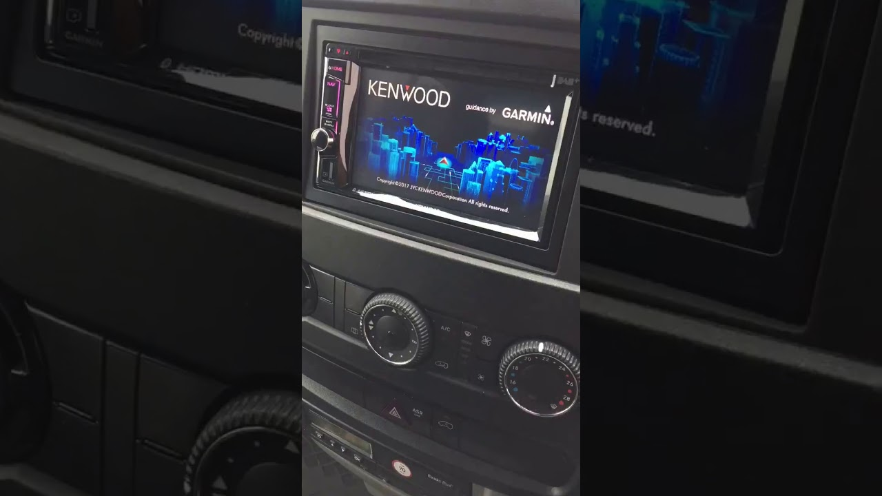 reversing camera and kenwood dnx 5170 install by cbs automotive on a kenwood kvt 512 wiring reversing camera and kenwood dnx 5170 install by cbs automotive on a mercedes sprinter