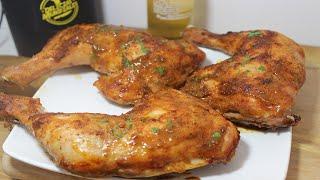 como hacer o preparar pernil de pollo al horno