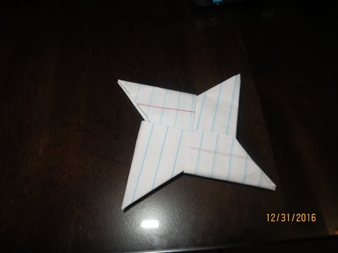 How to make a paper ninja star Oragami Toturial EAZY!