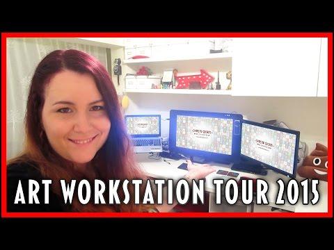 ART WORKSTATION STUDIO TOUR 2015 | SwanStarDesigns
