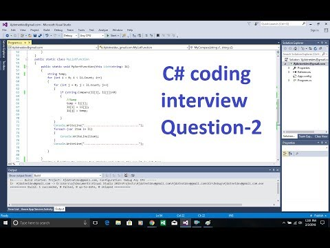 C# coding interview Question-2 How to arrange Strings/Words without using Sort() method