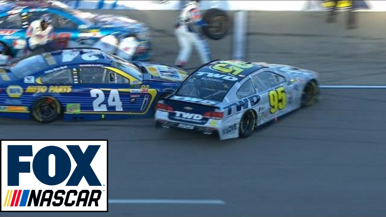 Chase Elliott Collides with Michael McDowell on Pit Road | 2017 ...