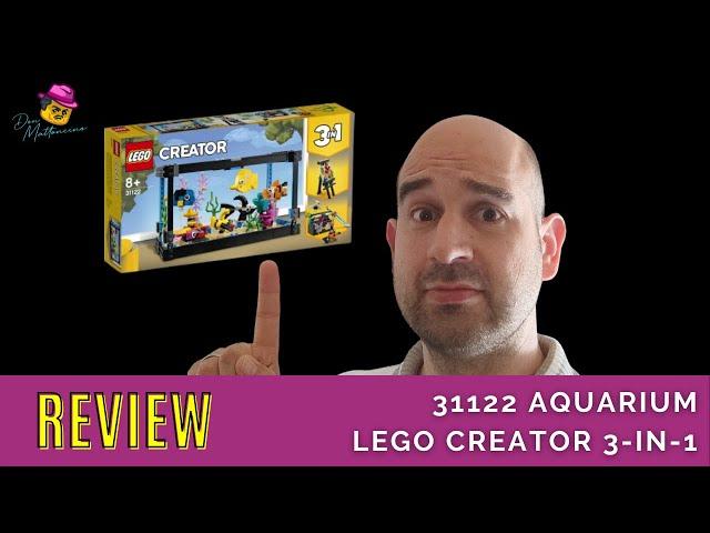Ein auslaufsicheres Aquarium aus Lego! ;-) Das Creator 3-in1 Set 31122 Aquarium im Review