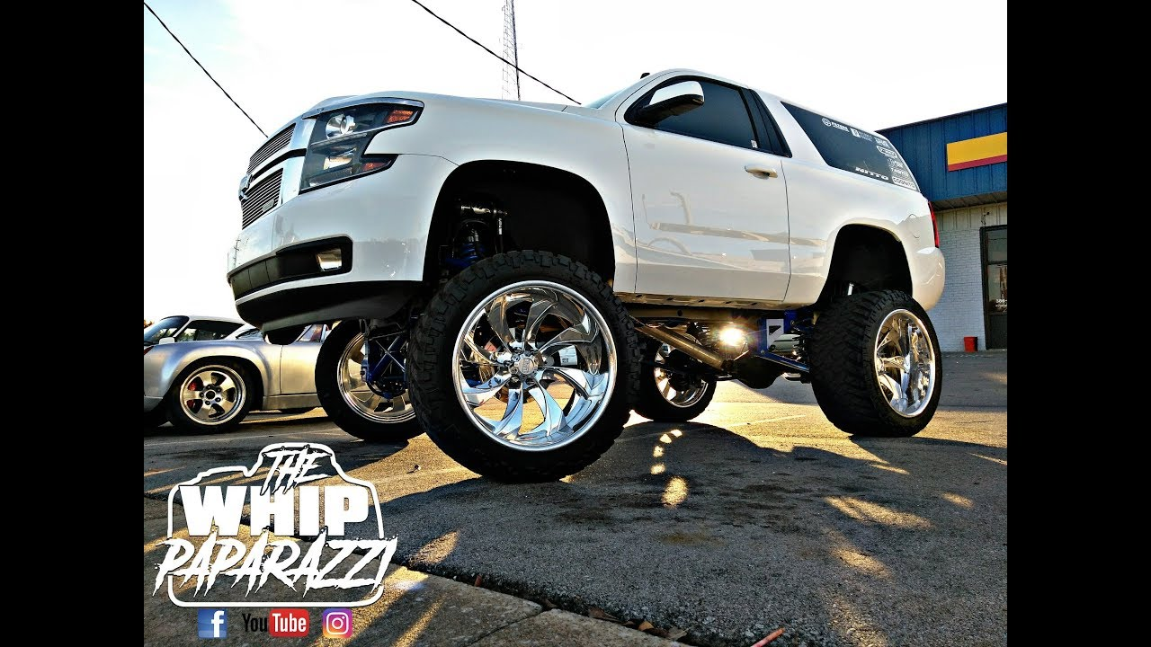 T-Rex Lifted Chopped 2 Door Chevy Suburban - YouTube