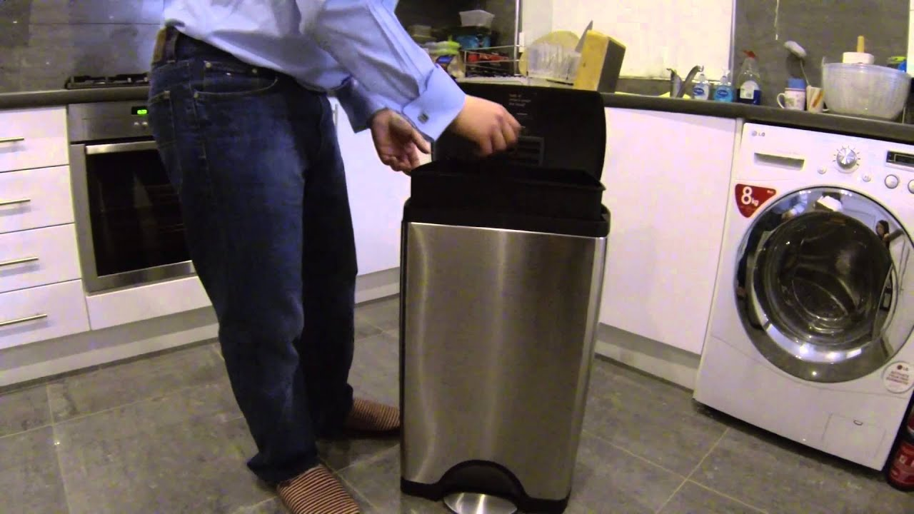 The Best Kitchen Bin Money Can Buy   Simplehuman 38l Rectangular Step Can    YouTube