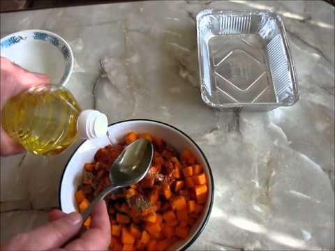 Мясо индюшатины запеченное с тыквой