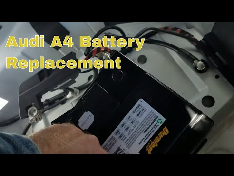 Changing battery on a 2013 Audi A4 Quattro