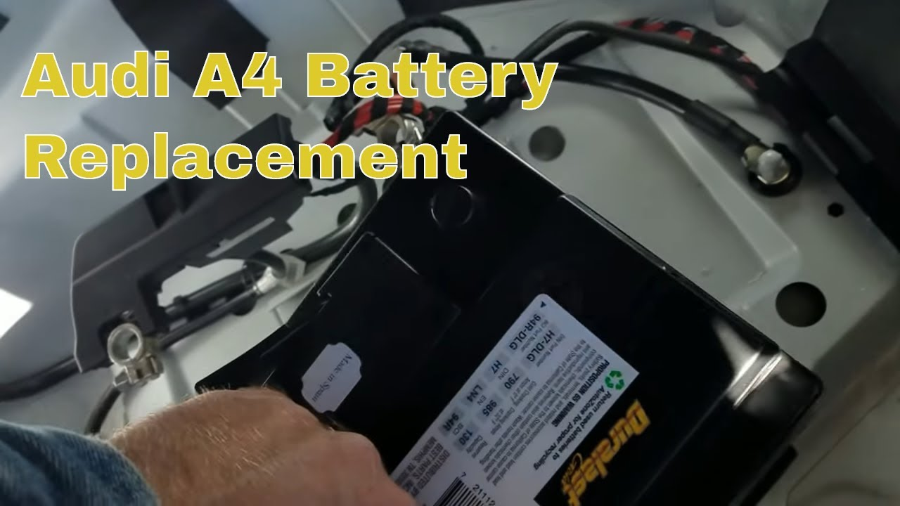 changing battery on a 2013 audi a4 quattro youtube. Black Bedroom Furniture Sets. Home Design Ideas