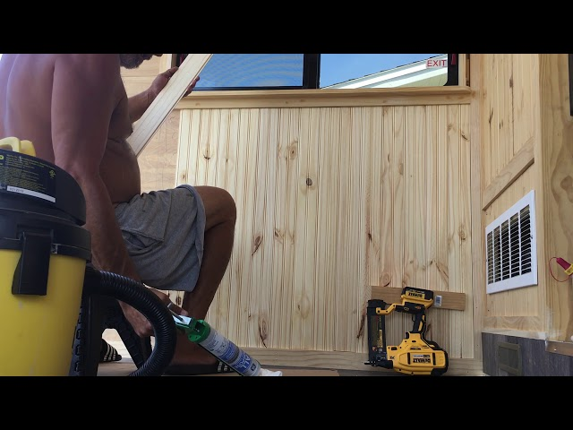 RV Trailer Build #109 - More Tongue &  Groove Install. Finished Step-up Transition