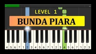 nada piano bunda piara - tutorial piano grade 1 - lagu anak anak indonesia - not pianika