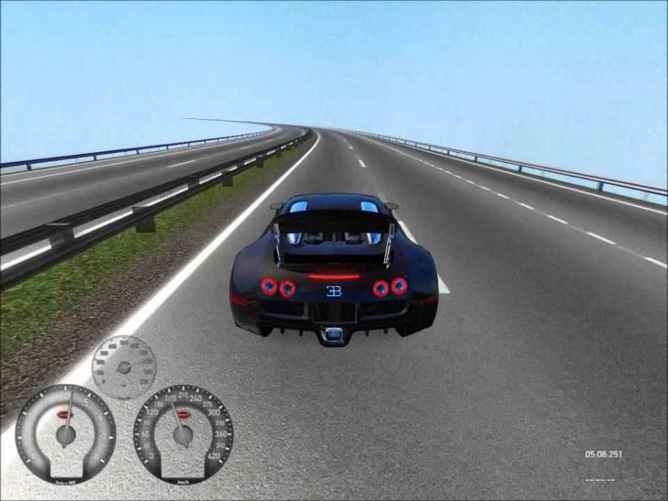 racer free car simulator - bugatti veyron 16-4 @ mont autobahn