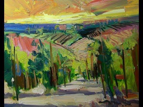 Vineyard Landscape Oil Painting Demo! Jose TRUJILLO Artist