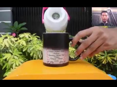 Mug Ajaib | Mug Bunglon berubah warna | Order 0812 3200 8722