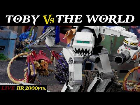Toby (Warhound Titan) vs. THE WORLD (Tyranids) 2,000pts. NARRATIVE Battle Report