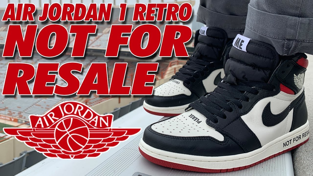 jordan 1 retro high not for resale