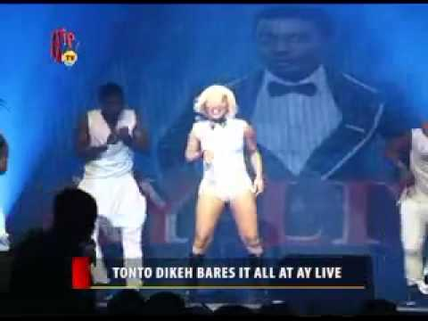 Tonto Dikeh bares it all at Ay Live