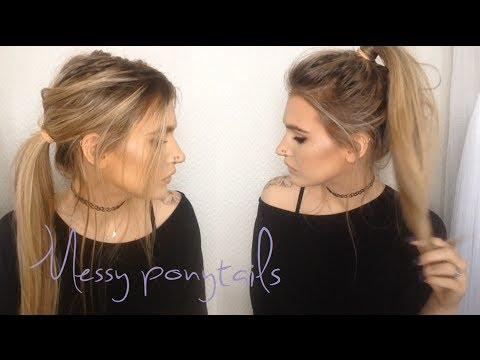 Messy Ponytails 2 In 1 Hair Tutorial Youtube