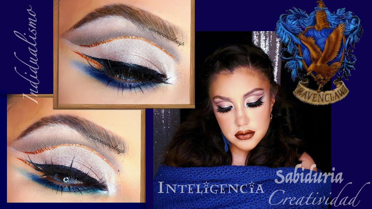 ⌁☍ Maquillaje Azul, Cobre y Gris  💙🦅 Ravenclaw House inspiration| auroramakeup
