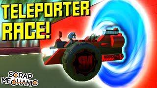 TELEPORTING THROUGH WALLS RACE!  - Scrap Mechanic Multiplayer Monday! Ep 96
