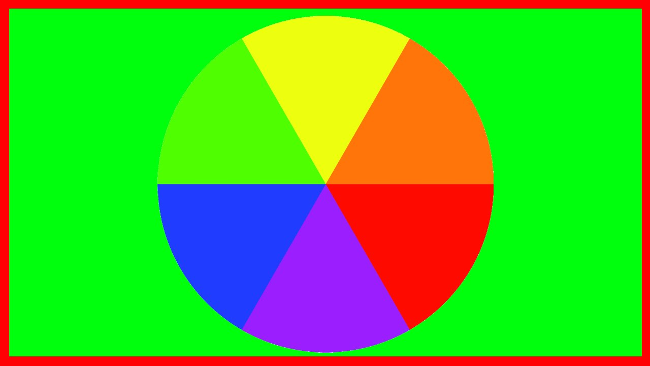 The Colour Wheel Blue Red Yellow Green Purple And Orange