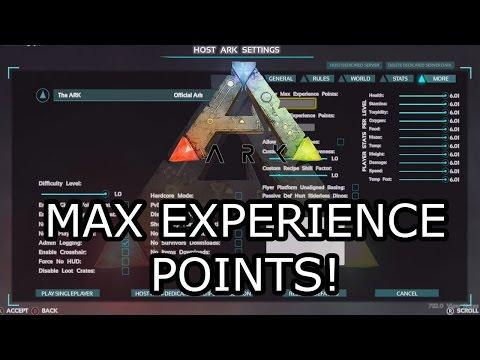ARK: SURVIVAL EVOLVED - MAX EXPERIENCE POINTS SLIDER! - EXPLAINED!