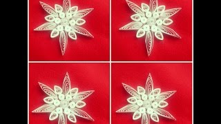 Quilling Snowflakes Tutorial / How to make snowflakes tutorial