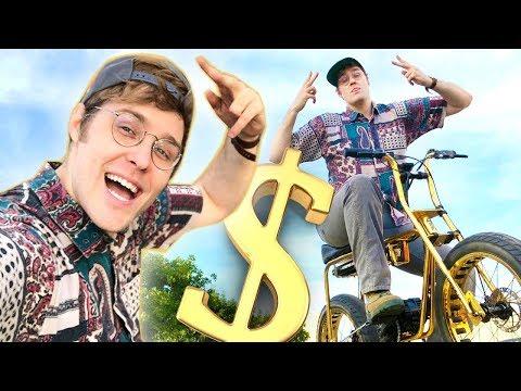 Stealing Post Malone's $25,000 GOLD Bike