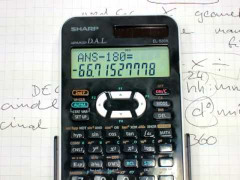 Calculator Use The D M S On You