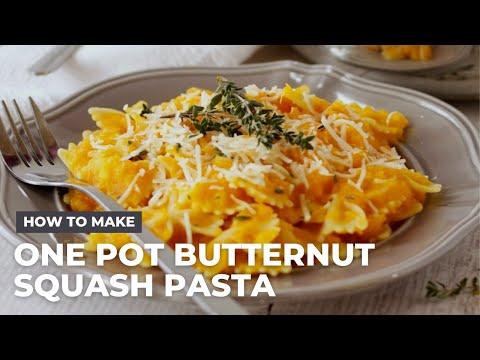 How To Make Creamy One Pot Butternut Squash Pasta