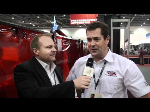 Mark Callaghan and Paul Condran talk welding at the 41st WorldSkills International Competition
