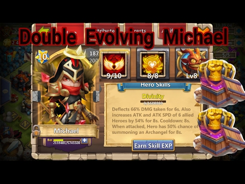 Double Evolving Michael With 8/8 Tenacity - Castle Clash Game Play