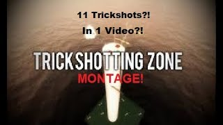 Trickshotting On Roblox?! Roblox Trickshotting Zone Montage