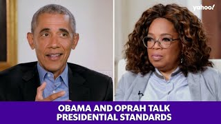 Obama talks to Oprah Winfrey about President Trump and presidential standards