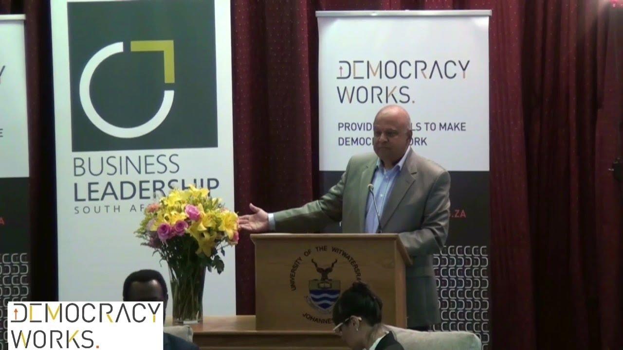 Pravin Gordhan at Democracy Works Live Streaming Debate