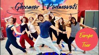 Ghoomar | Padmavati | Dance Choreography | Mohit Mathur | Bollywood Workshop | Europe Tour