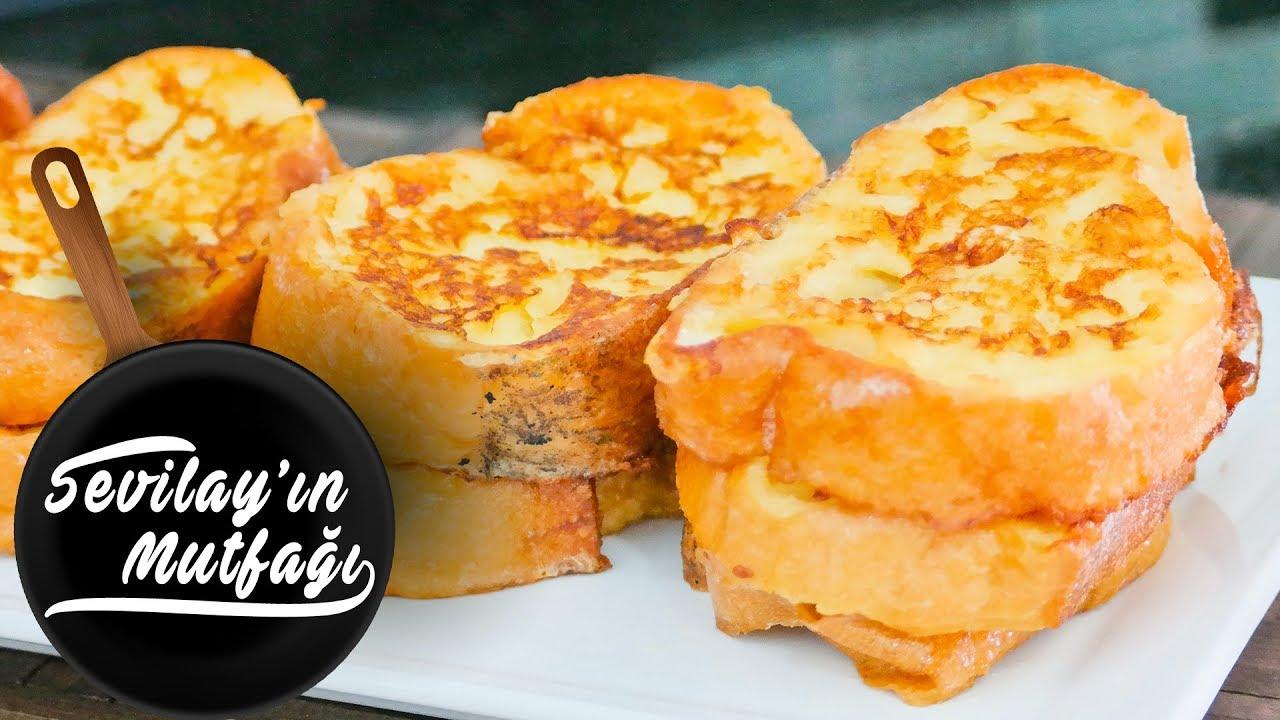 Fırında Yumurtalı Kaşar Peynirli Tost Ekmeği /Kahvaltılık Tarifler