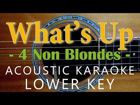What's Up - 4 non blondes [Acoustic karaoke | Lower Key ]