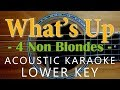 Download What's Up - 4 non blondes [Acoustic karaoke | Lower Key ] MP3 song and Music Video