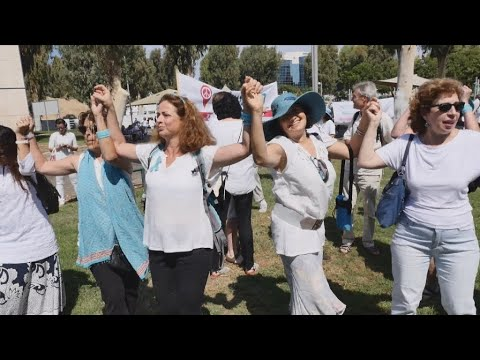 'Women Wage Peace': Israeli and Palestinian women march side by side