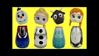 Disney Frozen 2 Bath Bubbles Containers with Elsa Anna and Olaf Dolls