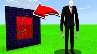 How To Make A Portal To SLENDERMAN in Minecaft Pocket Edition/MCPE
