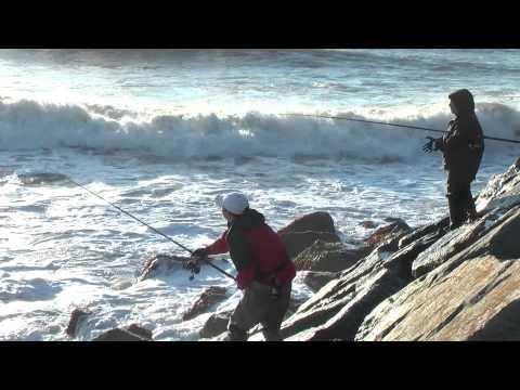 Surf Fishing Under Montauk Point Lighthouse,  Fall 2011