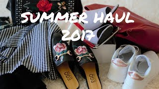 SUMMER FASHION HAUL 2017// TRY ON
